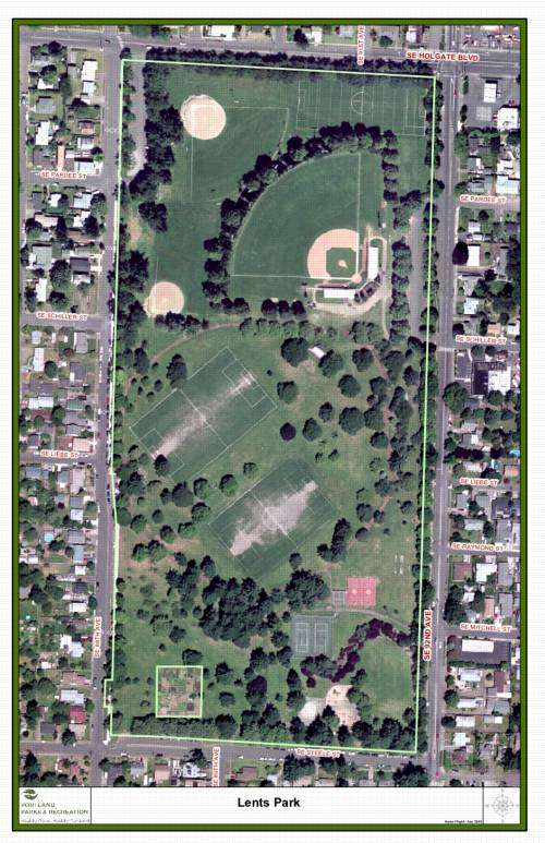 Map of Lents Park