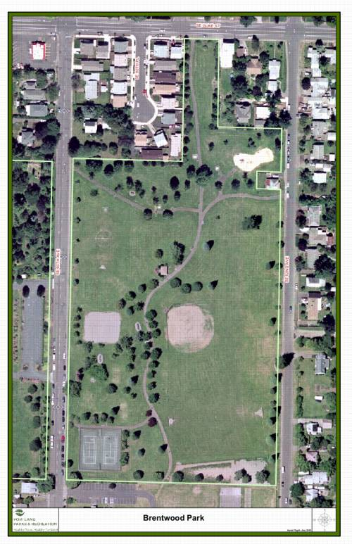 Map of Brentwood Park